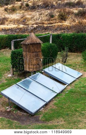 water heater with a solar panels