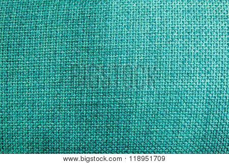 Pastel Background Of Green Sack Textile Texture