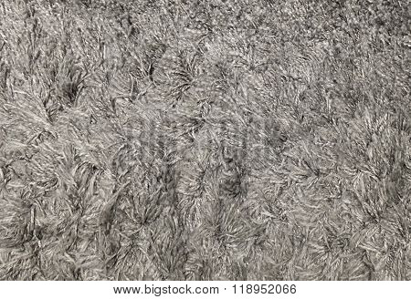 Close Up Gray Fluffy Fabric Texture Background