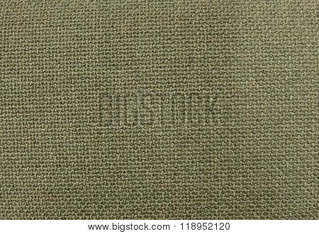 Background Of Olive Green Textile Pattern Texture