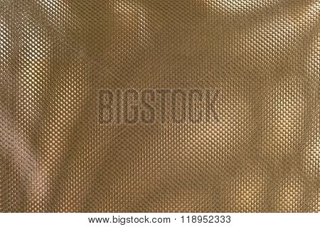 Close Up Texture Background Of Bronze Polyester Fabric