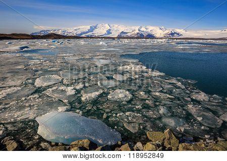 Iceberg In Jokulsarlon Glacial Lagoon