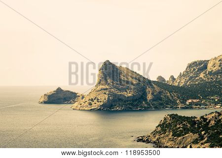 Beautiful Sea Landscape with headland Summer Travel