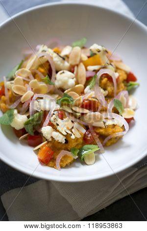 Seared Cauliflower Indian Salad