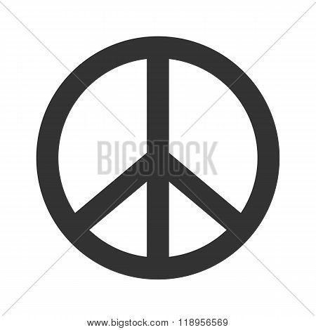 Peace sign. Hippie symbol of peace