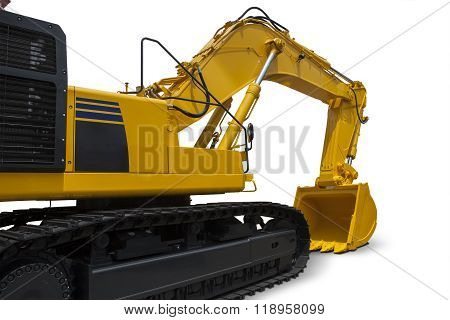 Heavy Excavator With Yellow Color