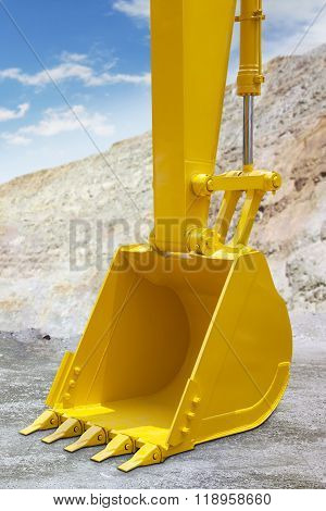 Shovel Of Excavator With Yellow Color