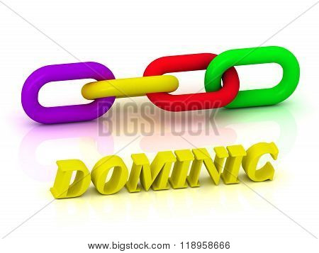 Dominic- Name And Family Of Bright Yellow Letters