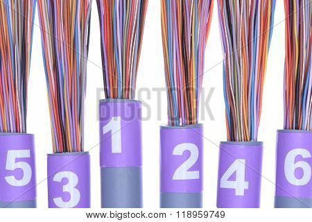 Stripped network cables