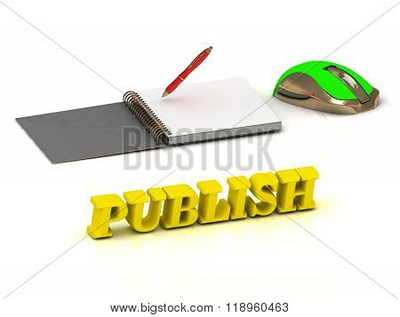 Publish  Inscription Bright Volume Letter And Textbooks And