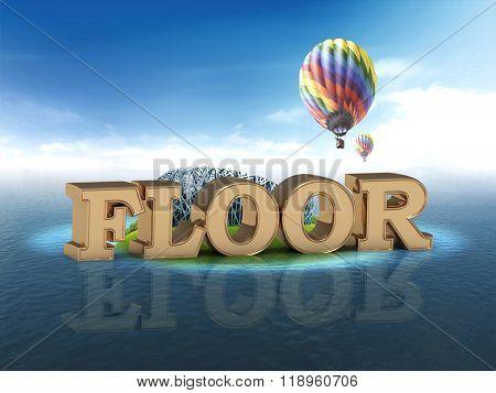 Floor Bright Word, Night Sky, Air Ball, Sea