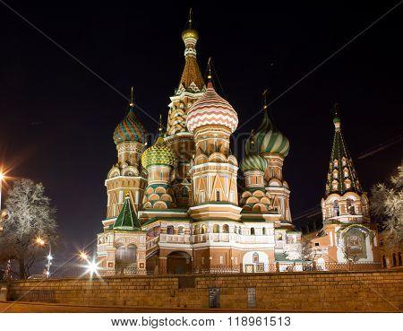 Saint Basil's Cathedral At Night