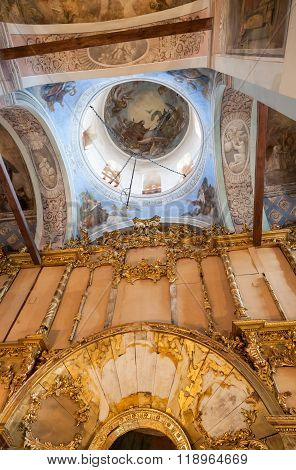The Painting On The Dome Of The Cathedral Of Saint Nicholas In Novgorod, Russia