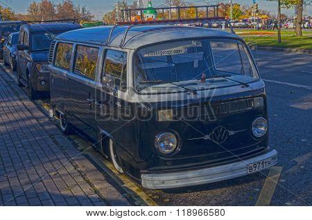 Old Minibus Volkswagen Transporter T2.