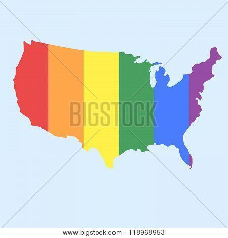 LGBT vector flag. Gay culture symbol, rainbow