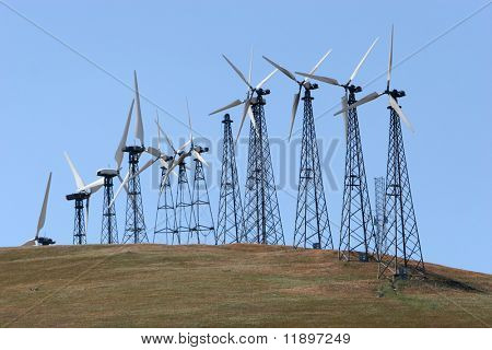 Wind turbines for alternative energy