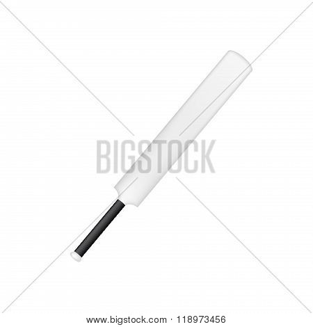 Vintage cricket bat in black and white design