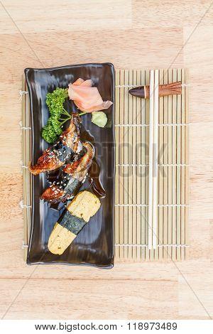 Unagi And Sweet Egg Sushi