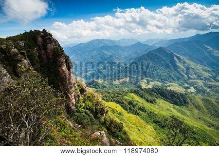 Pha Luong mountain in Moc Chau, Vietnam.