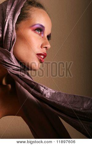 Beautiful glamourous woman model portrait