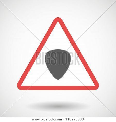 Warning Signal Icon With A Plectrum