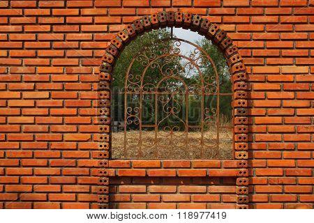 Door at the wall