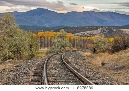 Curve In The Tracks In Autumn
