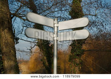 Blank Direction Signs