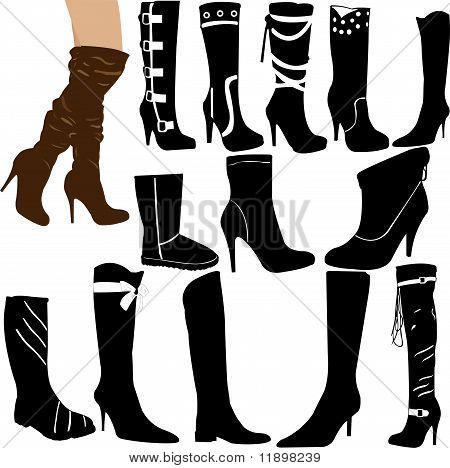 Boots Collection - Vector