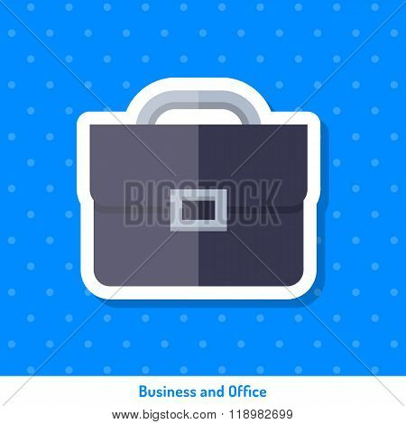Bright Flat Icon, Sticker