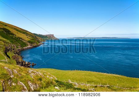 Cliff On Northern Coast In Northern Ireland