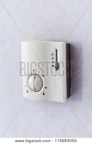 Heating And Cooling Air Conditioning White Display