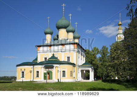 Transfiguration Cathedral in the Uglich Kremlin territory. The Golden ring of Russia