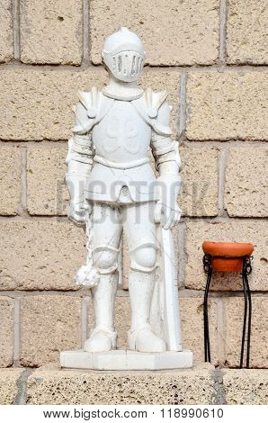 Statue of a Medieval Knight