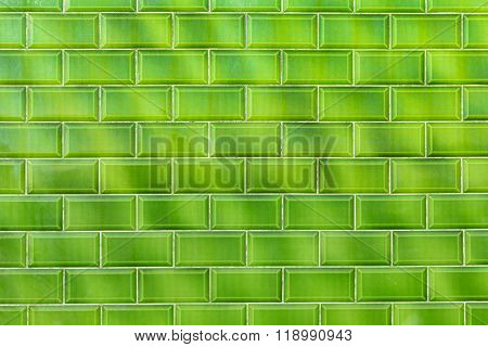 Green Shiny Flashy Green Modern Retro Wall