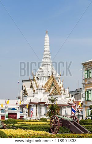 The City Pillar Shrine Of Bangkok. Place Of Interest For Tourists And Sacral Temple For Thai People.