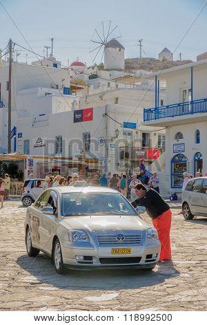 Mykonos Town Scene