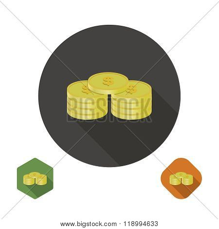 Coins Dollar Icon
