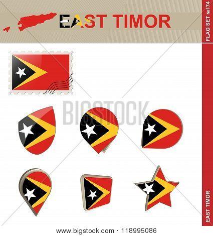 East Timor Flag Set, Flag Set