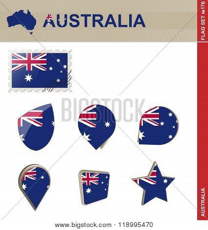 Australia Flag Set, Flag Set