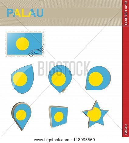Palau Flag Set, Flag Set