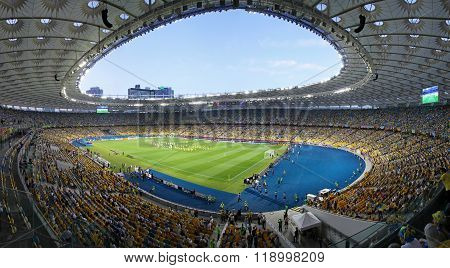 Panoramic View Of Stadium In Kyiv