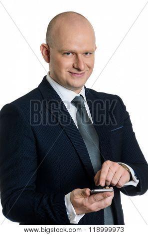 middle ages caucasian business man portrait