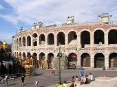 stock photo of spqr  - picture of the famous arena of verona