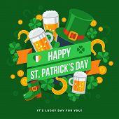 Happy St. Patricks Day Typography Emblem. poster