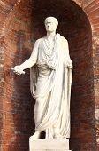 Roman emperor statue in Quirinale Square, Rome (Italy)