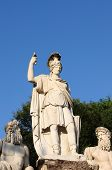 Statue portraying Rome between Tevere and Aniene