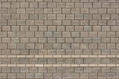 stock photo of cinder block  - Background of cinder block wall with two lines - JPG