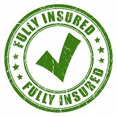 Fully insured rubber stamp poster