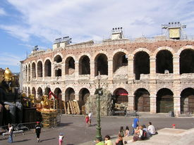 picture of spqr  - picture of the famous arena of verona  - JPG